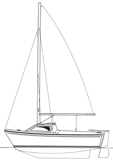 Cap 450 drawing on sailboatdata.com