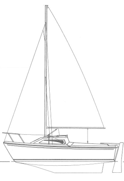 Cap 540 (Jeanneau) drawing on sailboatdata.com