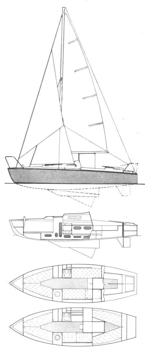 Cap Vert drawing on sailboatdata.com