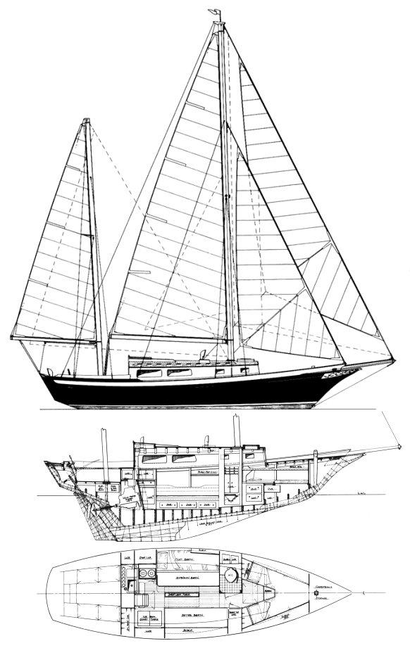 CAPE CARIB 33 drawing