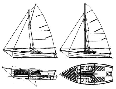Cape Cutter 19 drawing on sailboatdata.com