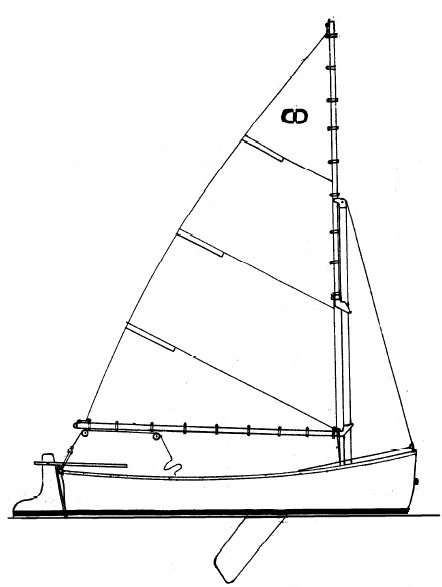 Cape Dory 10 drawing on sailboatdata.com