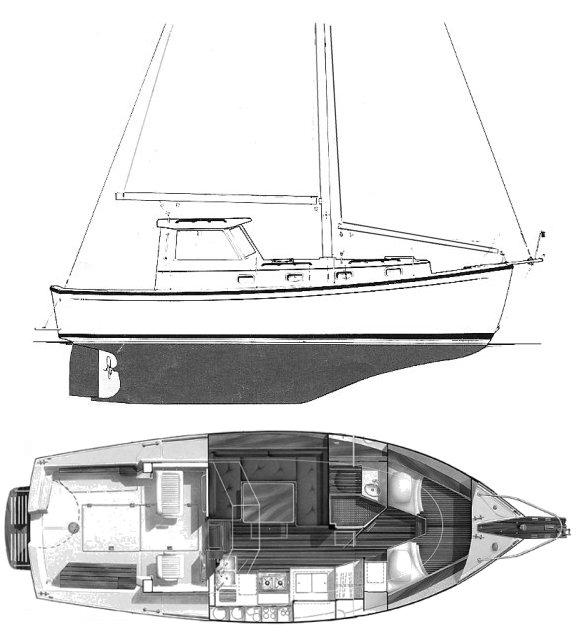 SailboatData com - CAPE DORY 300 MS Sailboat