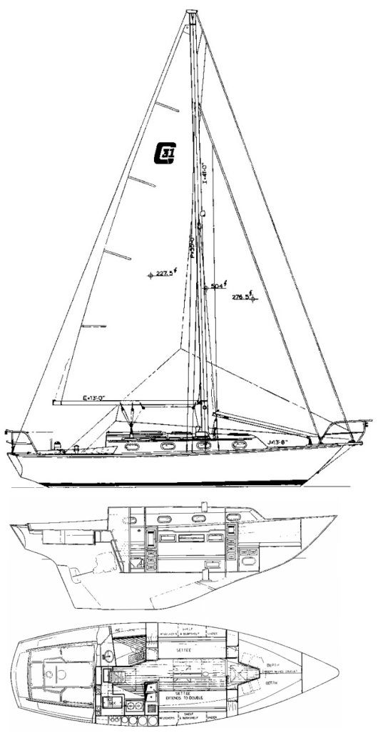 CAPE DORY 31 drawing