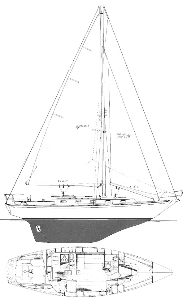 CAPE DORY 36 drawing