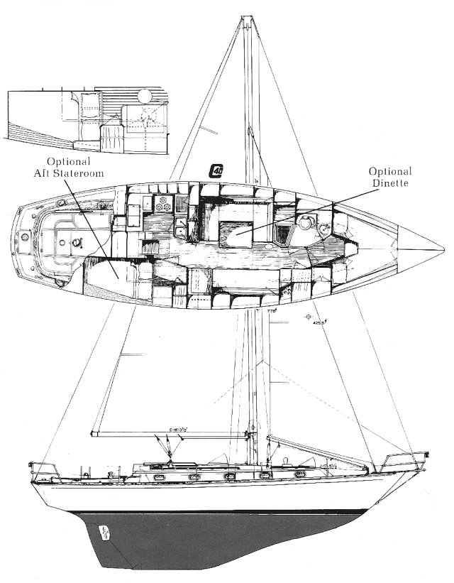 CAPE DORY 40 drawing