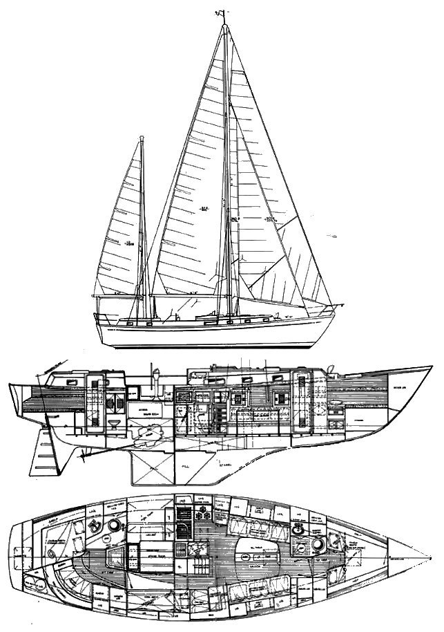 CAPE NORTH 43 drawing