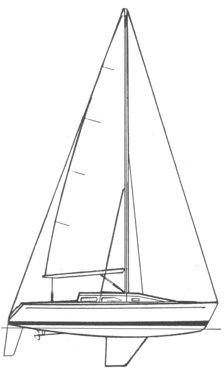Capo 30 drawing on sailboatdata.com