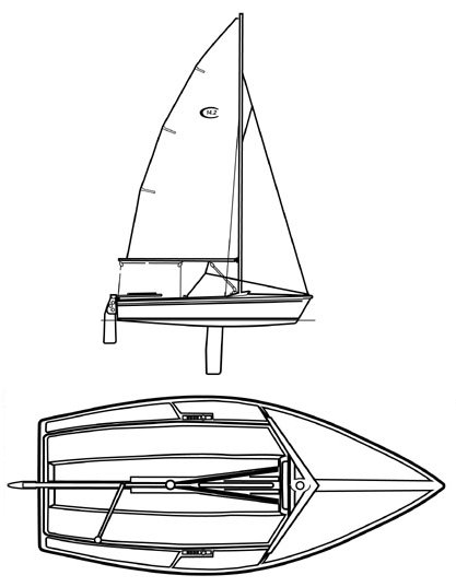 Capri 14.2 drawing on sailboatdata.com