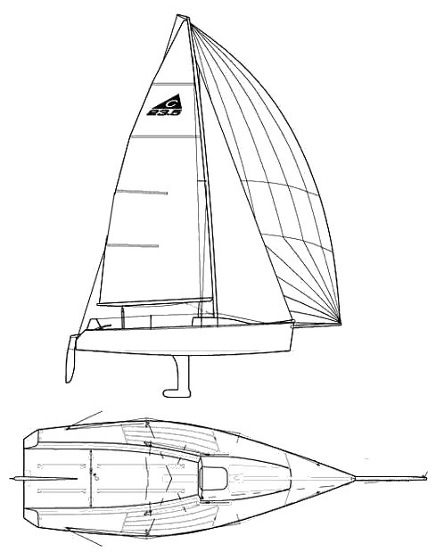 CAPRI 23.5 (CATALINA) drawing