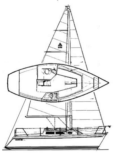 CAPRI 26 (CATALINA) drawing