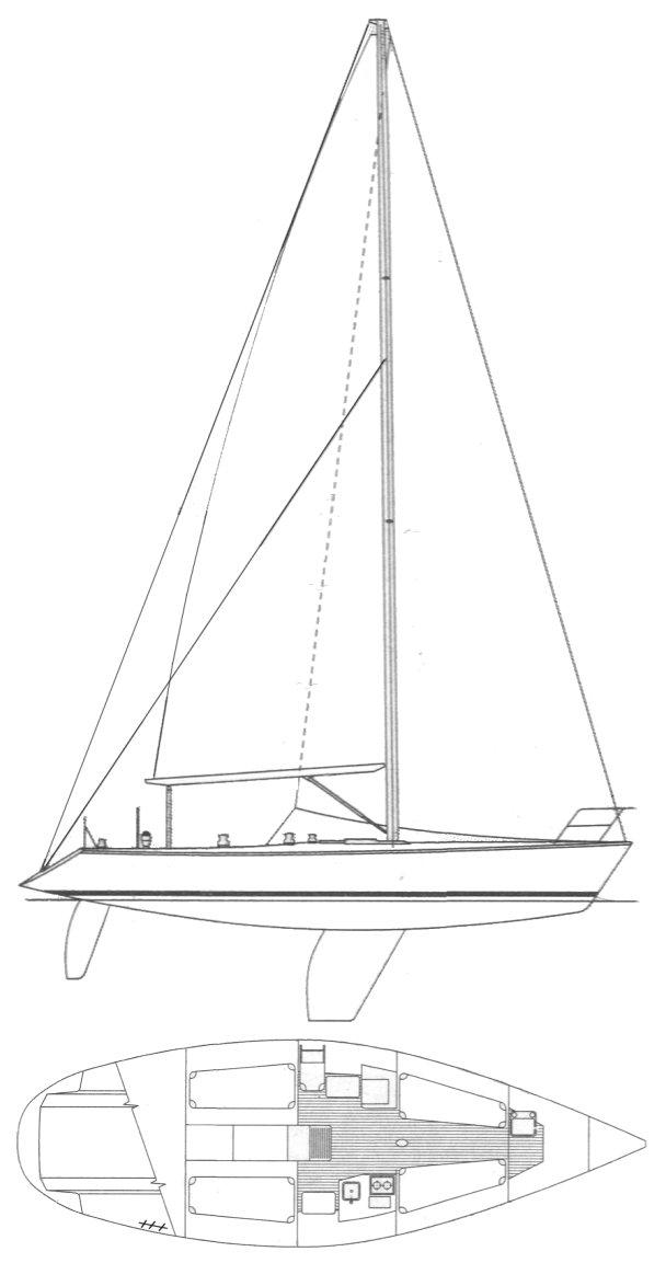 CAPRI 37 (CATALINA) drawing