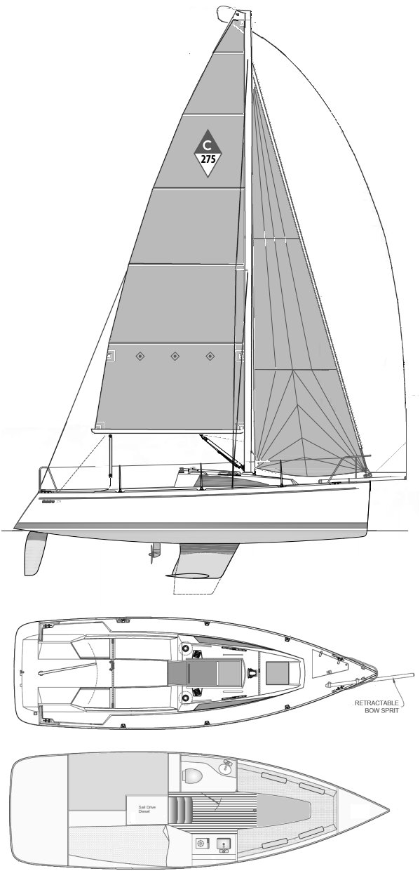 CATALINA 275 SPORT drawing