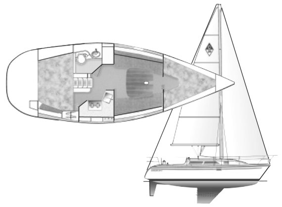 Catalina 28 MKII drawing on sailboatdata.com