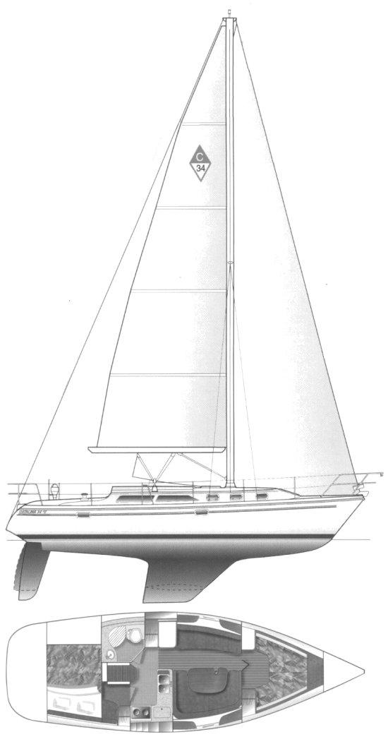 CATALINA 34 MKII drawing