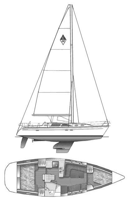 CATALINA 387 drawing