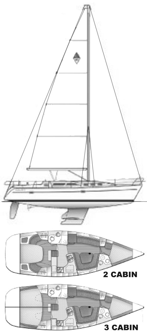 CATALINA 400 Mk II drawing