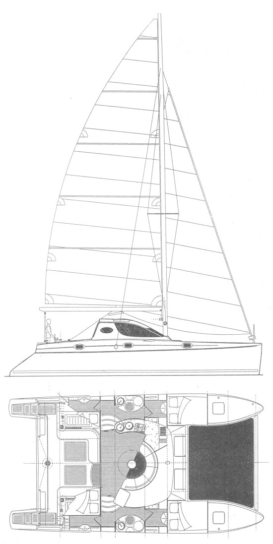 CATANA 411 drawing
