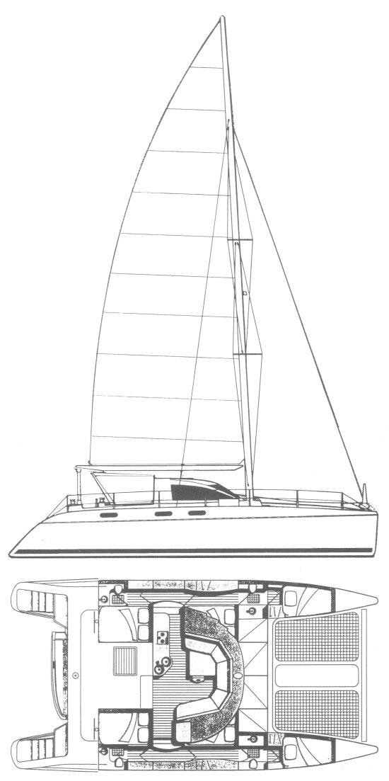 CATANA 44 drawing