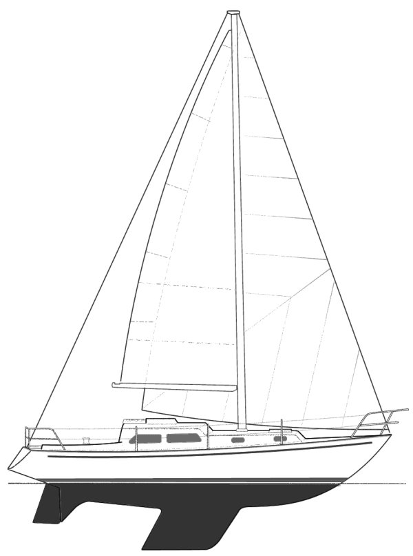 Cavalier 32 drawing on sailboatdata.com