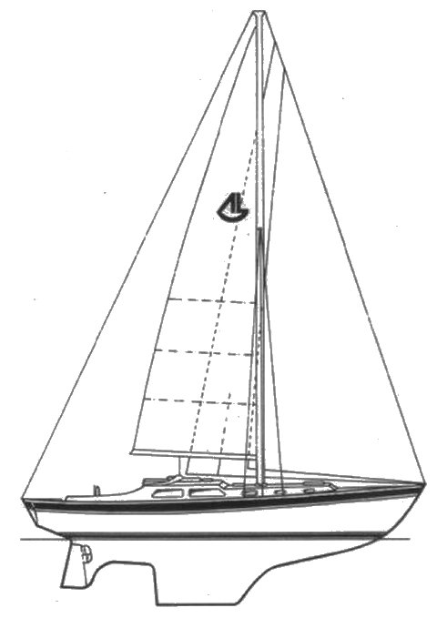 Cavalier 39 drawing on sailboatdata.com