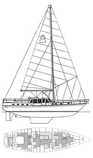 Celestial 50 drawing on sailboatdata.com