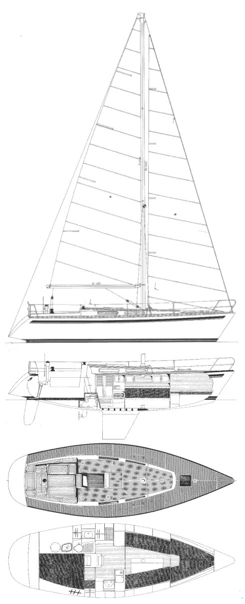 CENIT 33 drawing on sailboatdata.com