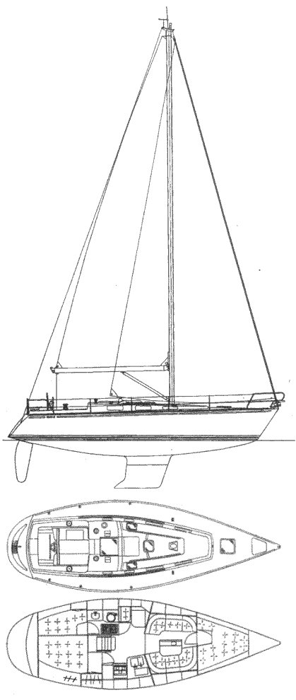 CENIT 35 drawing on sailboatdata.com