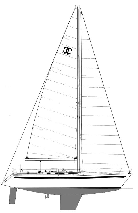 CENIT 40 drawing on sailboatdata.com