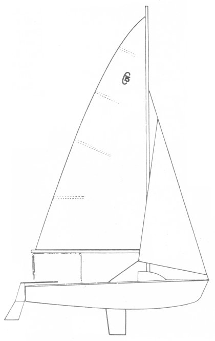 Challenger 15 drawing on sailboatdata.com