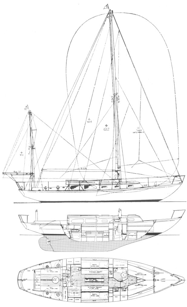 CHALLENGER 38 (ALDEN) drawing