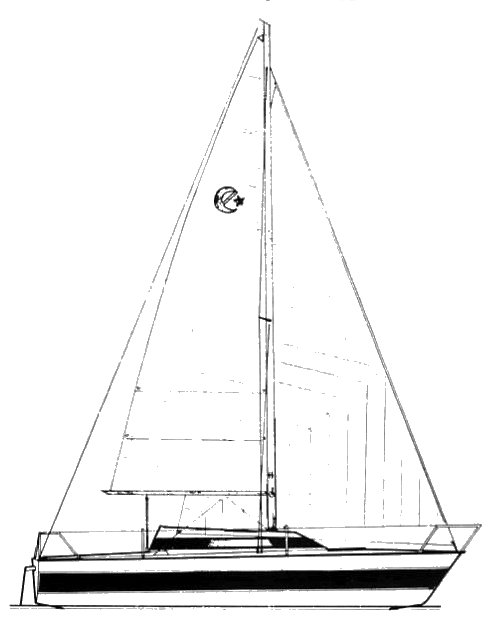 Challenger Europe drawing on sailboatdata.com