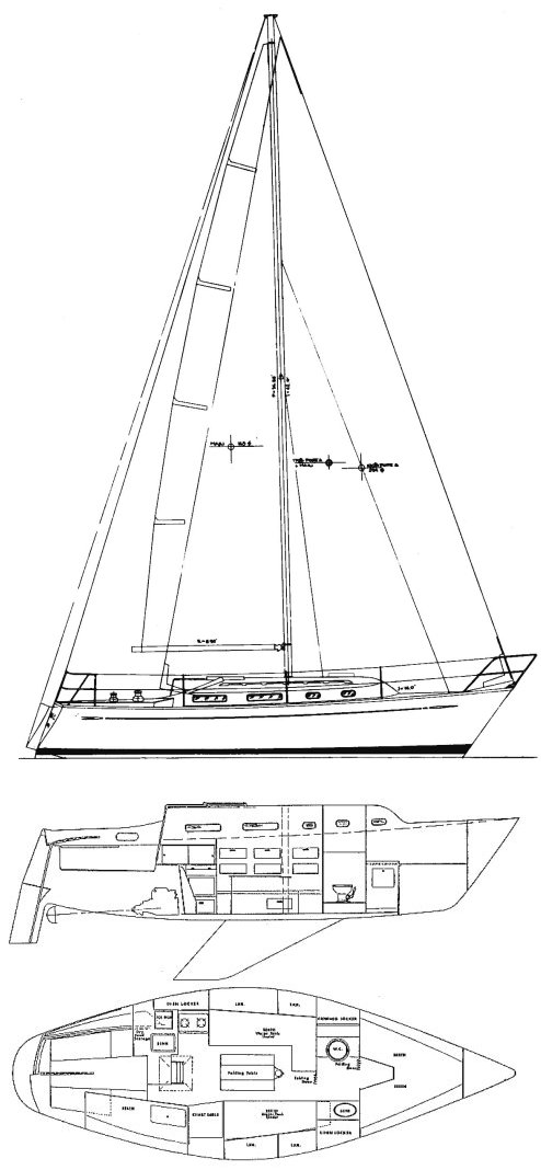 Chance 30-30 drawing on sailboatdata.com