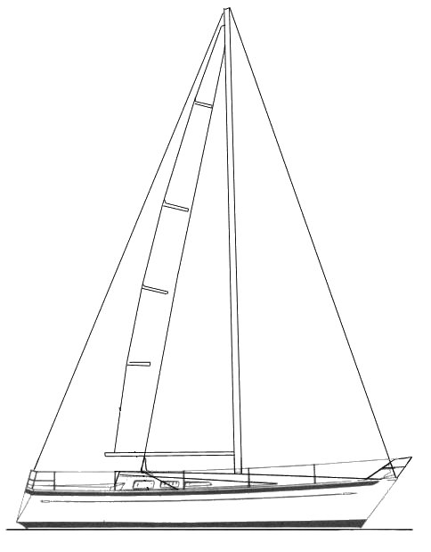 Chance 32-28 drawing on sailboatdata.com