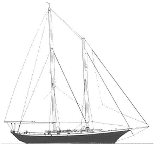 Cheoy Lee Clipper Sch drawing on sailboatdata.com