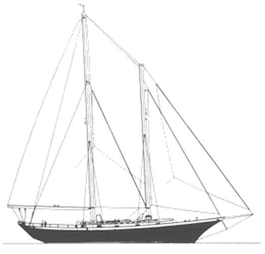 CLIPPER 48 SCHOONER (CHEOY LEE) drawing