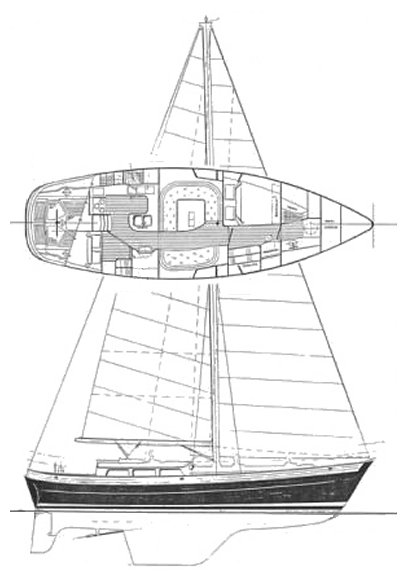 CHRISTINA 40 (HANS CHRISTIAN) sailboat specifications and