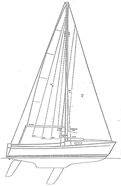 Chrylser 20 drawing on sailboatdata.com