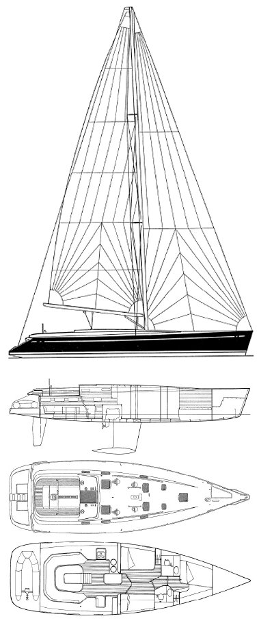 Cigale 14 drawing on sailboatdata.com