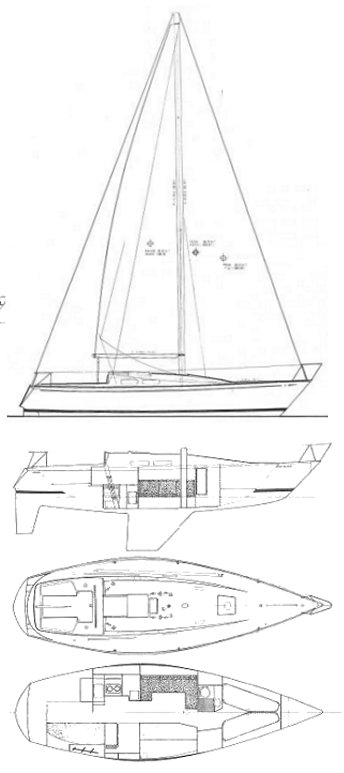 CIRRUS 3/4 TON (FRERS) drawing