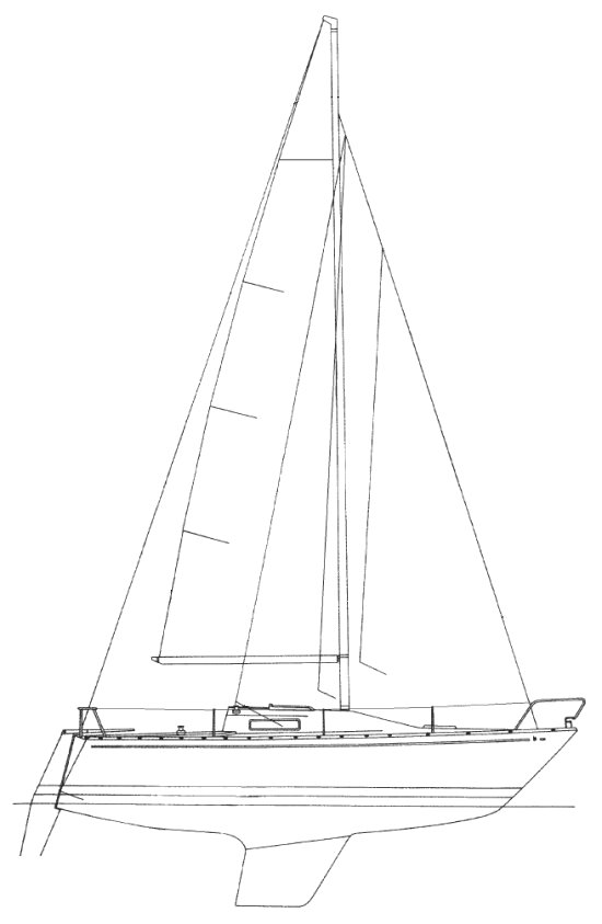 Cirrus (Albin) drawing on sailboatdata.com