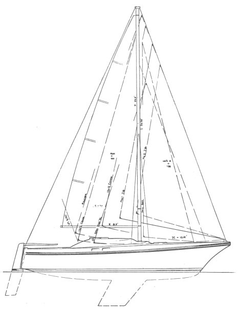 CLIPPER MARINE 1/4 TON drawing