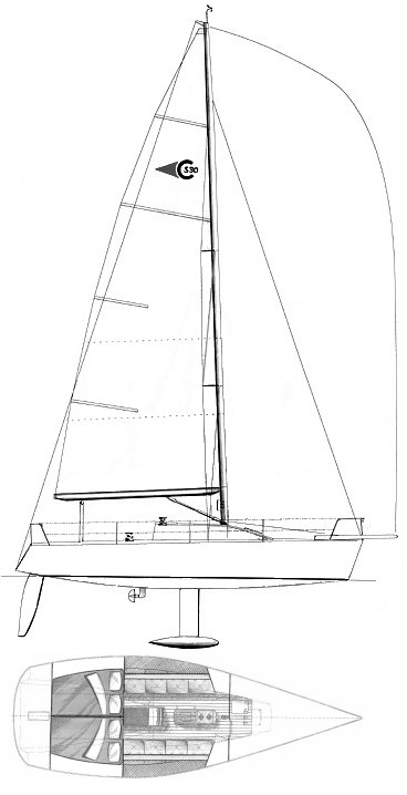 Clubman Super 30 drawing on sailboatdata.com