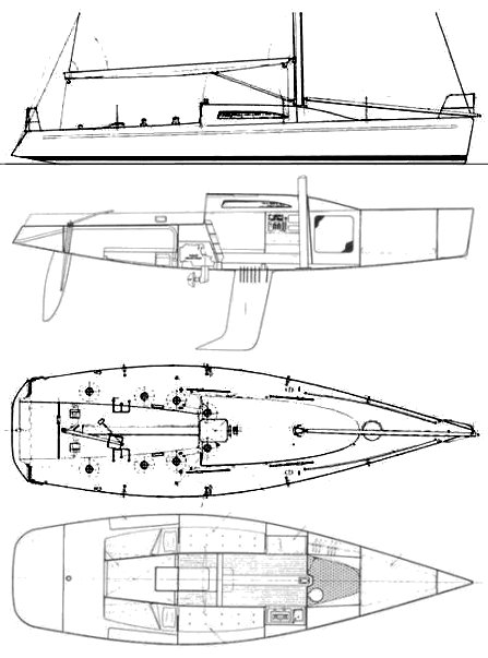 CM 1200 drawing on sailboatdata.com