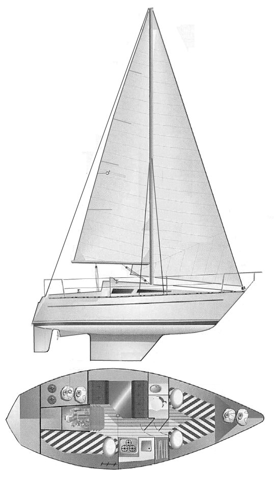 Cobra 700 drawing on sailboatdata.com