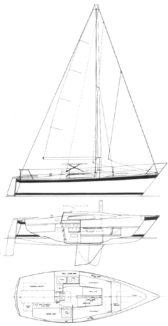 Cole 23 drawing on sailboatdata.com