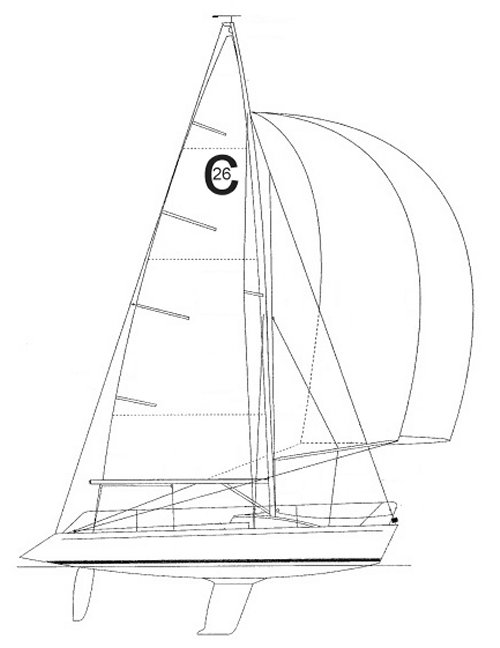 Colgate 26 drawing on sailboatdata.com