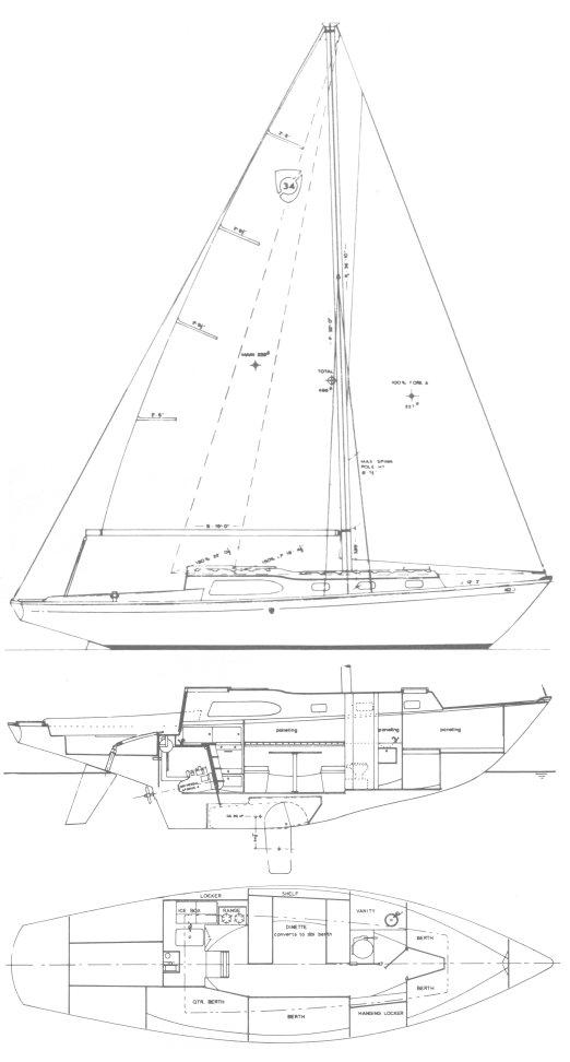 COLUMBIA 34 drawing