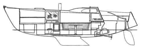 COLUMBIA 34 MK II SD drawing
