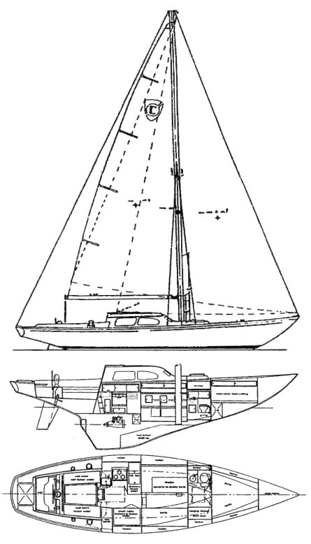 COLUMBIA 39 CONSTELLATION drawing